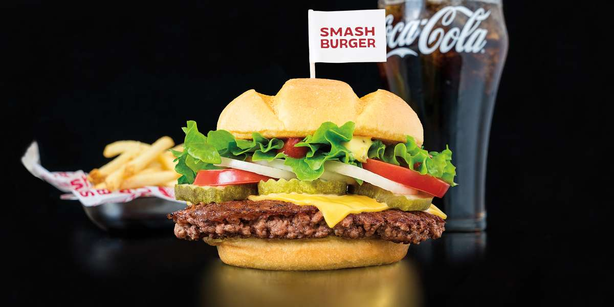 Our namesake smashing technique—smashing a fresh, never frozen, hand-packed meatball on a hot seasoned grill—results in a delicious burger that stands alone in taste, texture, and juiciness. Add butter-toasted artisan buns, real cheeses, freshly chopped produce, and robust sauces, and you've got a burger with no comparison! - Smashburger
