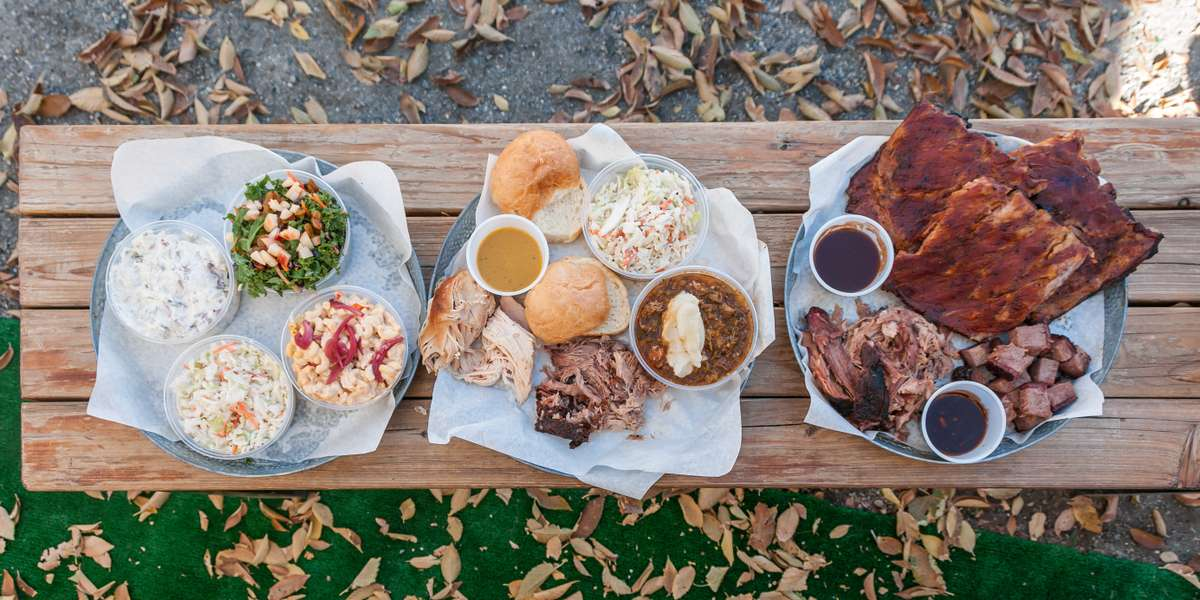 Loosen your belt and get ready to pig out with our classic American barbecue. Our menu also features unique smoked eats inspired by global barbecue traditions. So grab a slab and get ready for the ultimate chow-down! - Piggin' Out Smokehouse