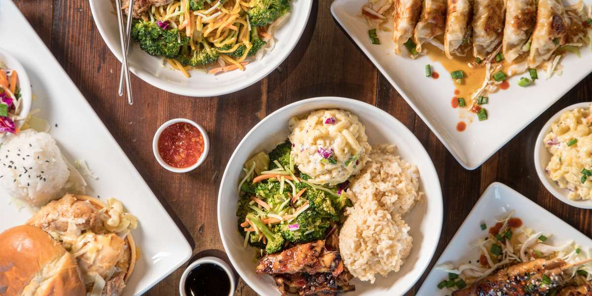 We serve bento style Hawaiian food. Our generous portions, homemade sauces, and mac salad (with our secret ingredient) are sure to be a welcome break from the usual. Yelpers love our Kahlua pork! - The Local Grind