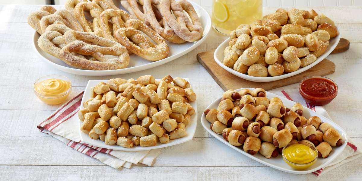 Since 1991, we've been rolling out fresh-baked and handcrafted pretzels – with a twist! The Pretzel Dog? Pretzel Bites? Both are Pretzelmaker claims to innovative fame! Go ahead, treat yourself to something fresh. - Pretzelmaker