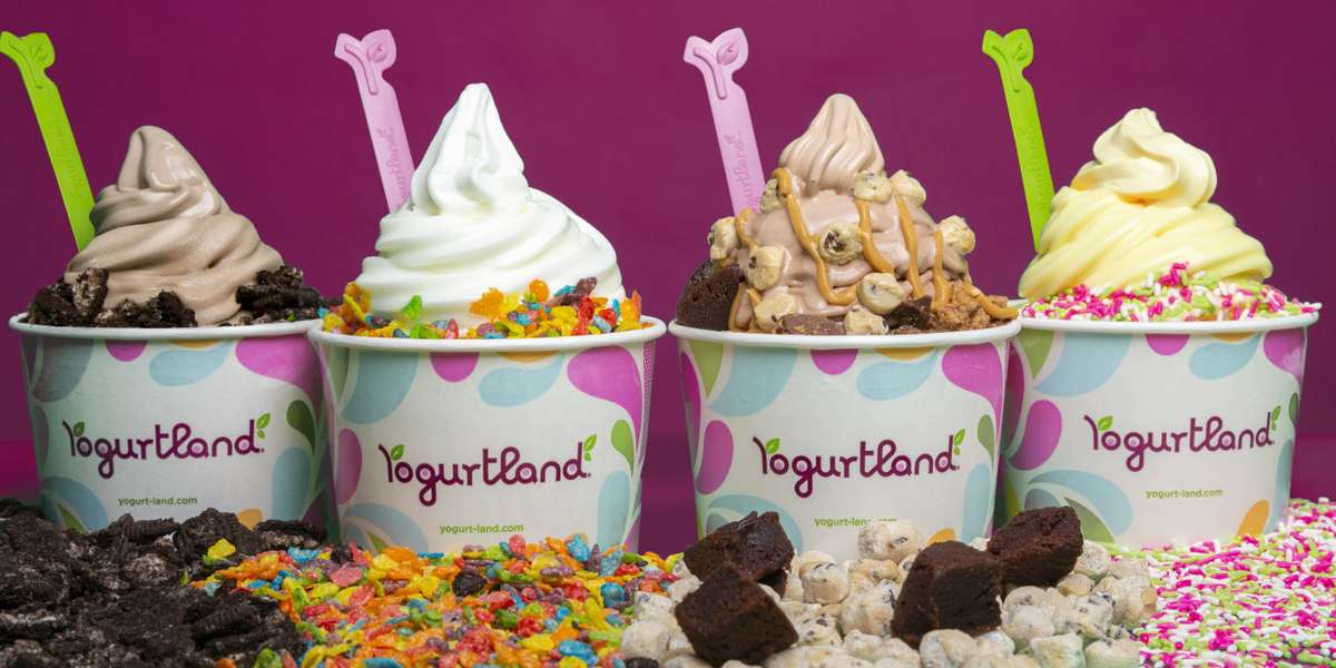 We proudly offer flavorful frozen yogurt with a personalized touch. With a variety of flavors, and countless topping combinations, we're bound to have the perfect treat for any occasion. - Yogurtland