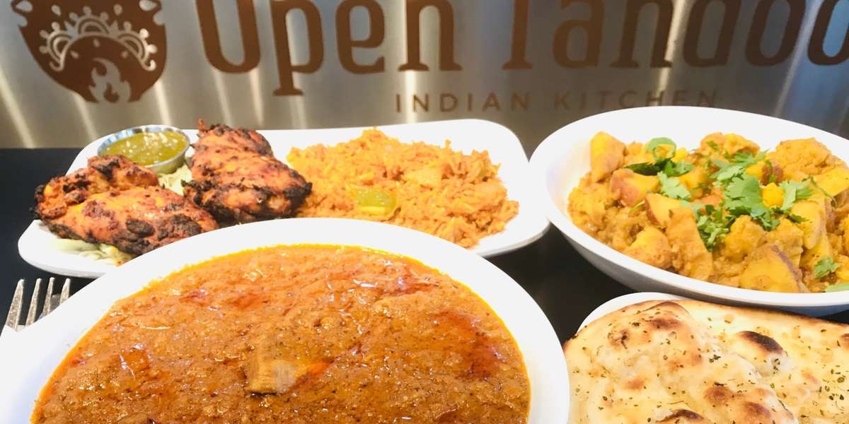 We only use organic cooking oil and non-GMO fry oil. The majority of our ingredients are all natural and non-GMO, with house-blended spices and local lamb and yogurt. - Open Tandoor