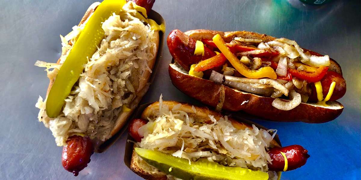 We serve up New Jersey style dogs with West coast flavor. What makes our hot dogs special? We have our own homemade recipe to ensure the best flavor you'e ever tried, from the Brat Jovi to the Bombo Dog. Treat your guests to cookout flavors in the comfort of the indoors at your next event. - The Greasy Wiener