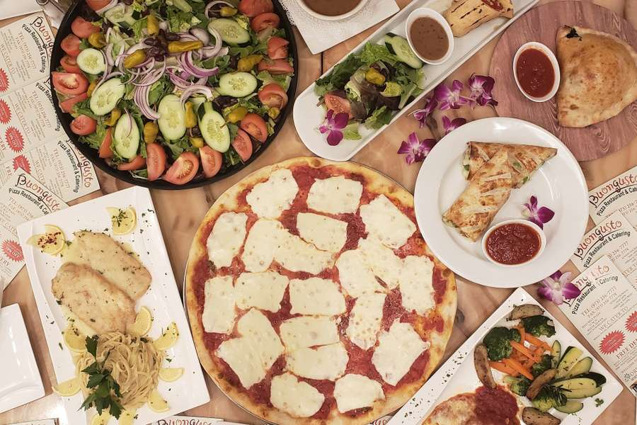 Whether you're planning a business meeting, a family gathering, or a holiday party, let us do what we do best and handle the menu for you! With classic, hearty, Italian recipes, you can't go wrong. From our chicken parmigiana to our penne a la vodka, our dishes will keep every group full and satisfied.  - Buongusto Pizza Restaurant & Catering