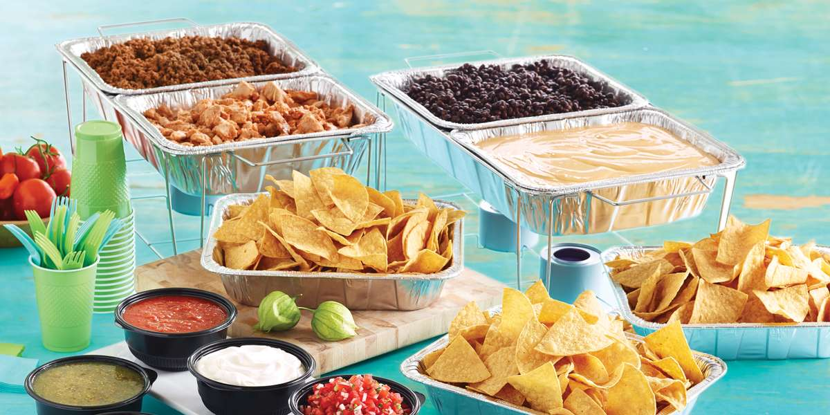 Our beautiful and appetizing catering bars come with guacamole, sour cream, pico de gallo, your choice of hot sauces, chips, and dessert for a gorgeous presentation and delicious touch of Baja. Our platters make for delicious snacks that will liven up your meetings! - Taco Del Mar