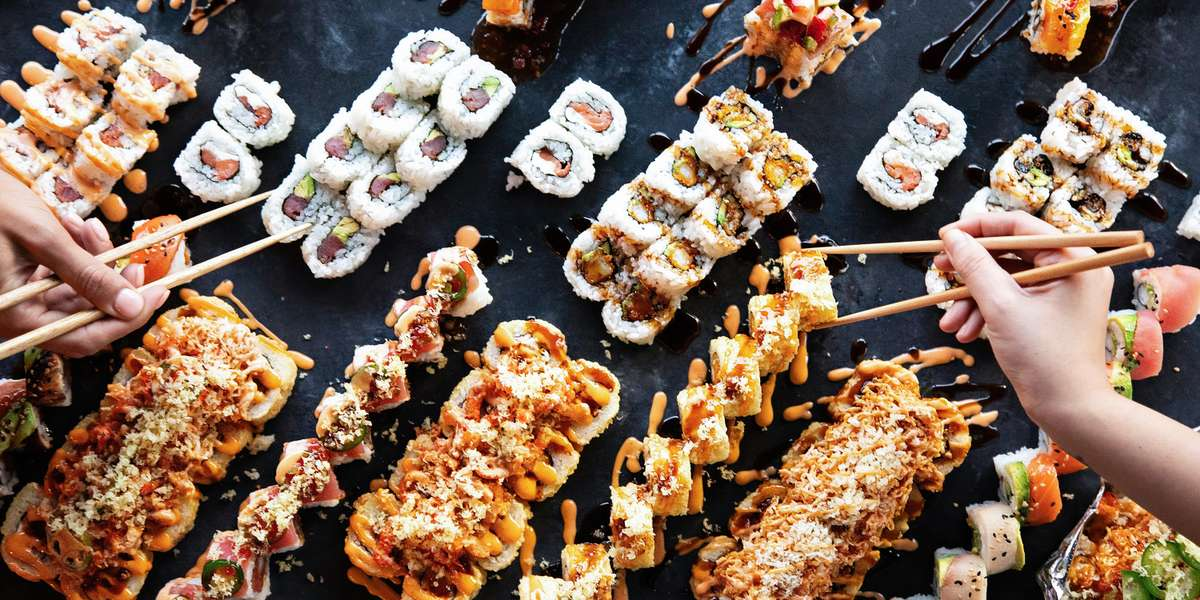 Rock out with your chopsticks out! Our amazing sushi and hibachi platters are sure to amplify your next catering event! - Rock n Roll Sushi