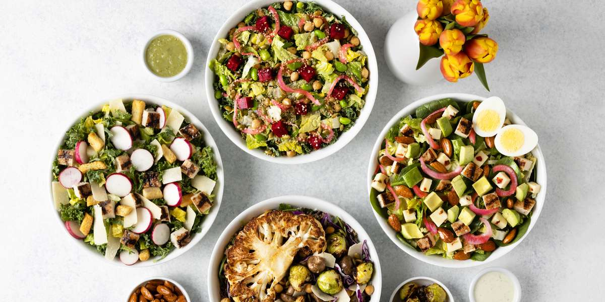 Just Salad is committed to cultivating healthier lifestyles by serving real food at an affordable price. We serve salads, wraps, warm bowls, toast boxes, and more across 34 locations throughout the world. Order Just Salad Catering today and become the office hero! - Just Salad