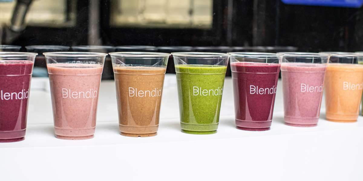 Blendid – contactless robot-made smoothies.  Our Blendid Blends (smoothies) are made in a contactless environment by our robot and include only 100% real ingredients that are flash frozen or refrigerated to maintain the best taste and highest nutrient level possible.   NO additives, preservatives, or fillers such as ice. Nothing artificial…except the intelligence.   Blends are processed on equipment that also processes peanuts and dairy. All blends are gluten free and most are vegan.  - Blendid
