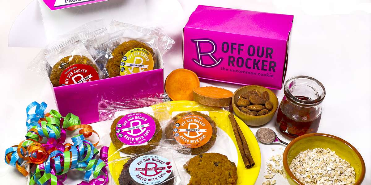 Our business is powered by women creating small-batch vegan cookies. Loved by herbivores and carnivores. - Off Our Rocker Cookies