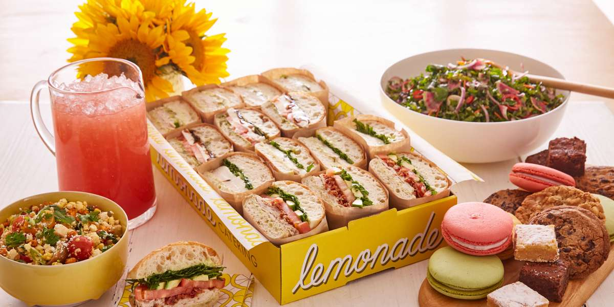 Take your meetings to the next level with our catering! We're firm believers of eating what is good when it's good. That's why we've put together an eclectic, vegetable-centric menu that draws from a variety of global influences and is anchored by its fresh array of marketplace vegetables. We guarantee that your team will love it! - Lemonade