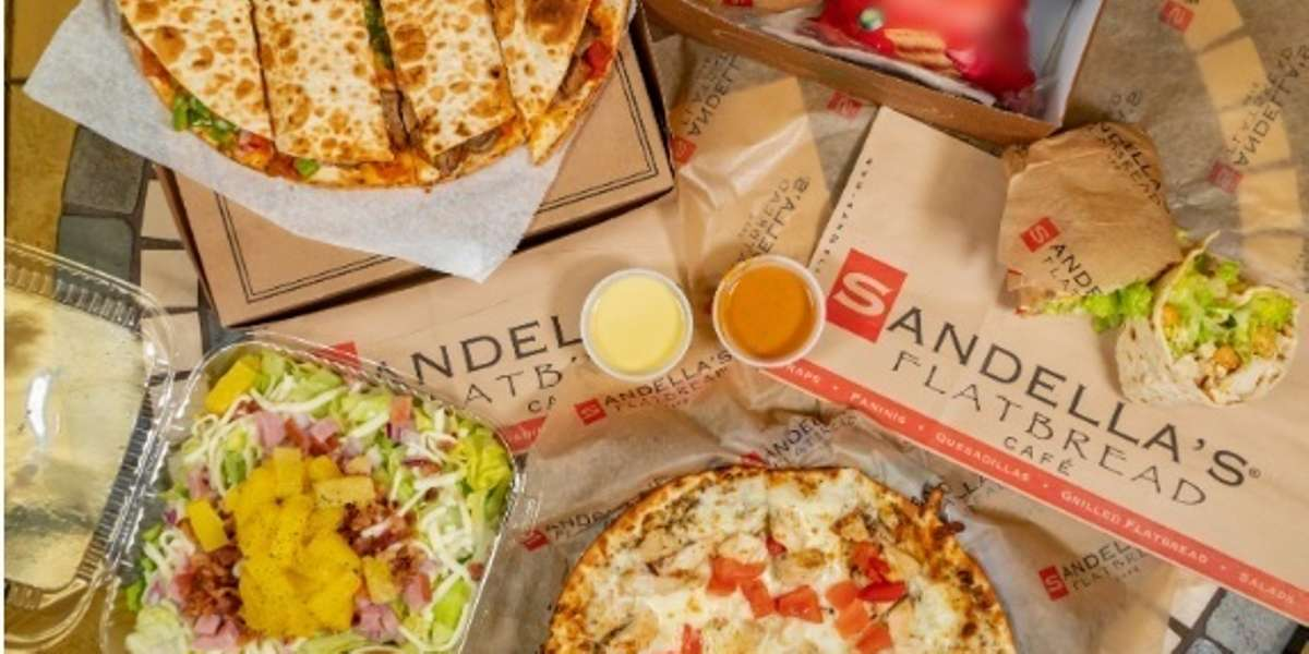 Sandella's restaurants offer a healthy menu of salads, paninis, wraps, pizza and more. We use only the freshest ingredients, locally sourced when possible. Each item is built to order on our very own flatbreads: lavash, pizza dough, Turkish or Bistro bread. Our flatbreads are a secret family recipe - free of fat, cholesterol, and anything artificial. - Sandella's Flatbread Cafe