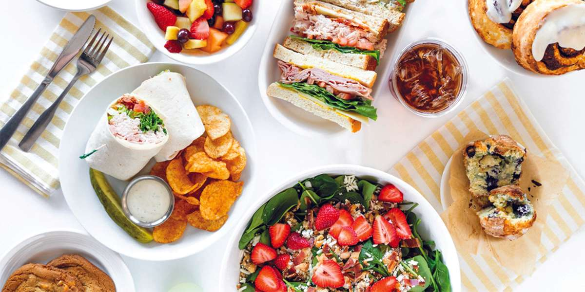 A bright spot for breakfast and lunch, our cafe proud to be your go-to choice for sunny, wholesome food. Dig into our egg strata or some scratch-baked treats for a memorable breakfast, or satisfy your guests with a variety of individualized boxed lunches for your next event! - Sunny Street Cafe