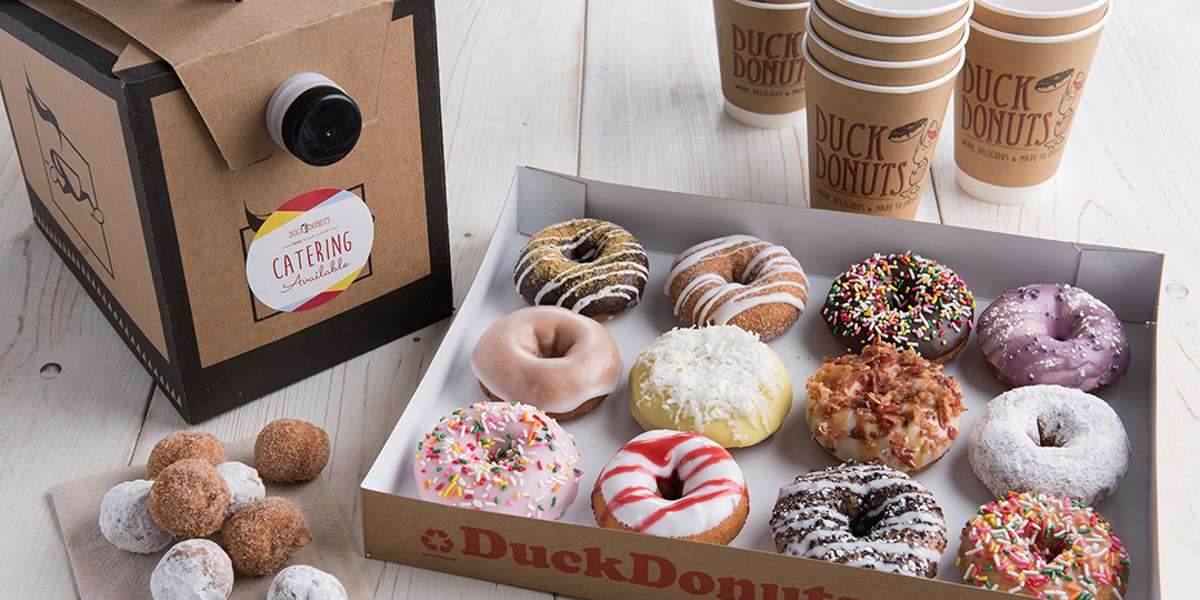 In need of a good sugar rush? Our donuts are fresh off the fryer, crispy on the outside, fluffy on the inside, and most notably: glazed and topped to order. Sounds like your morning or afternoon just got sweeter. - Duck Donuts