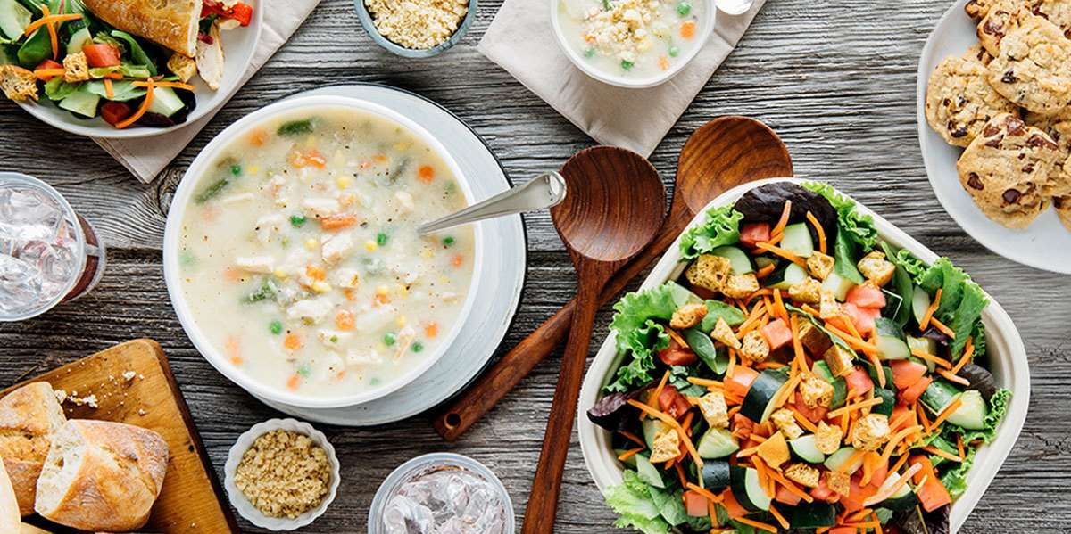 Our service lets you treat your group of 10 or more people to the same award-winning soup, salad and sandwiches you'll find in our restaurants. Our convenient delivery and set-up make it all so simple, there's nothing left to do but enjoy! - Zoup!