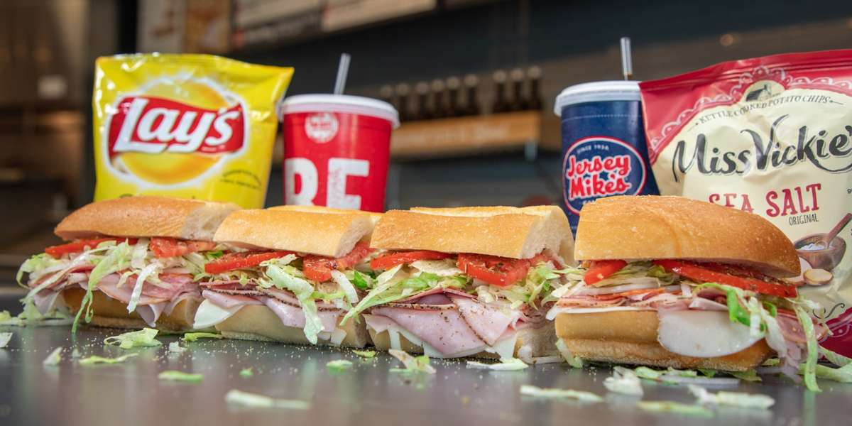 With quality ensured throughout our 700+ US locations, we've been a reliable national sandwich shop since 1956. Our signature sandwiches, including the Super Sub, Jersey Shore's Favorite, and the American Classic, have been hometown favorites for years. Today, we also offer convenient office-friendly catering packages, including boxed lunches and dessert platters. It's the perfect single-click pick! - Jersey Mike's Subs