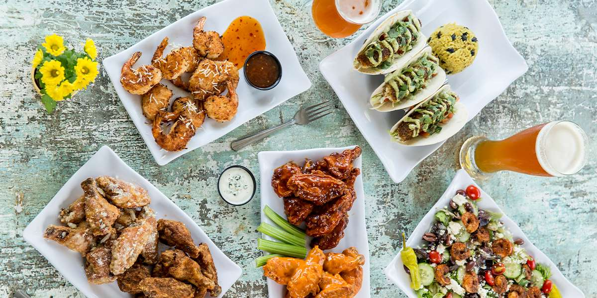 Feel the island breeze with our Caribbean options. From wings to tacos and more, add the sauce and dip of your choice and have wings your way. We offer a wide array of sauce options, from mild & sweet sauces to fiery sauces that will add a kick to your day. We do chicken the right way!  - Island Wing Company