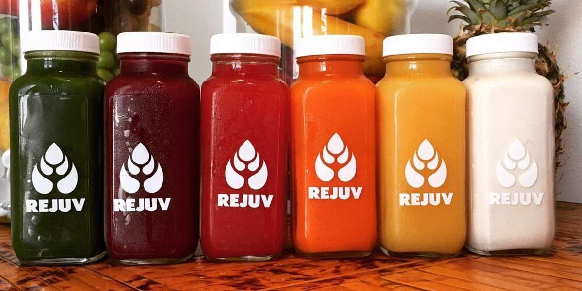 We think of our juices as alive. We don't use preservatives, so the ingredients are fresh and pure, made to be consumed as soon as possible. Each bottle is made individually and packed with nutrients, vitamins, minerals, and enzymes: all the things your body loves and needs. Drink. Enjoy. Vitalize.  - Rejuv Juice