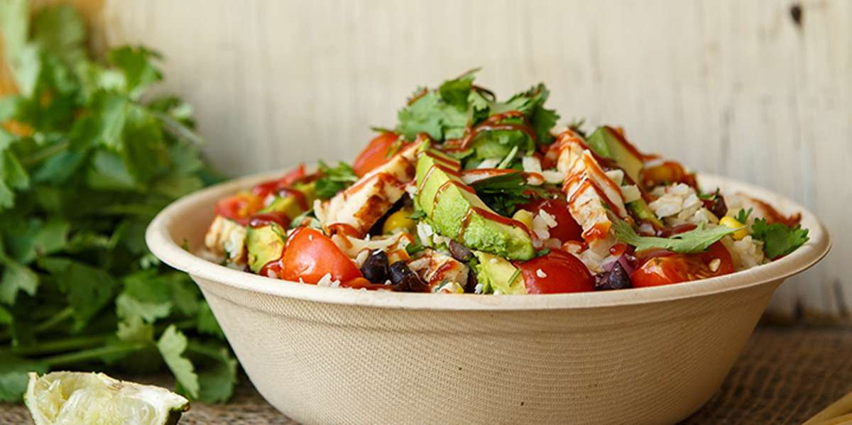 """At Freshii, we offer healthy wraps and salads. Our """"health-casual"""" menu includes high-quality, quick, convenient foods with an added focus on health and wellness. Our bag lunches are quick and easy option for your next luncheon! - Freshii"""