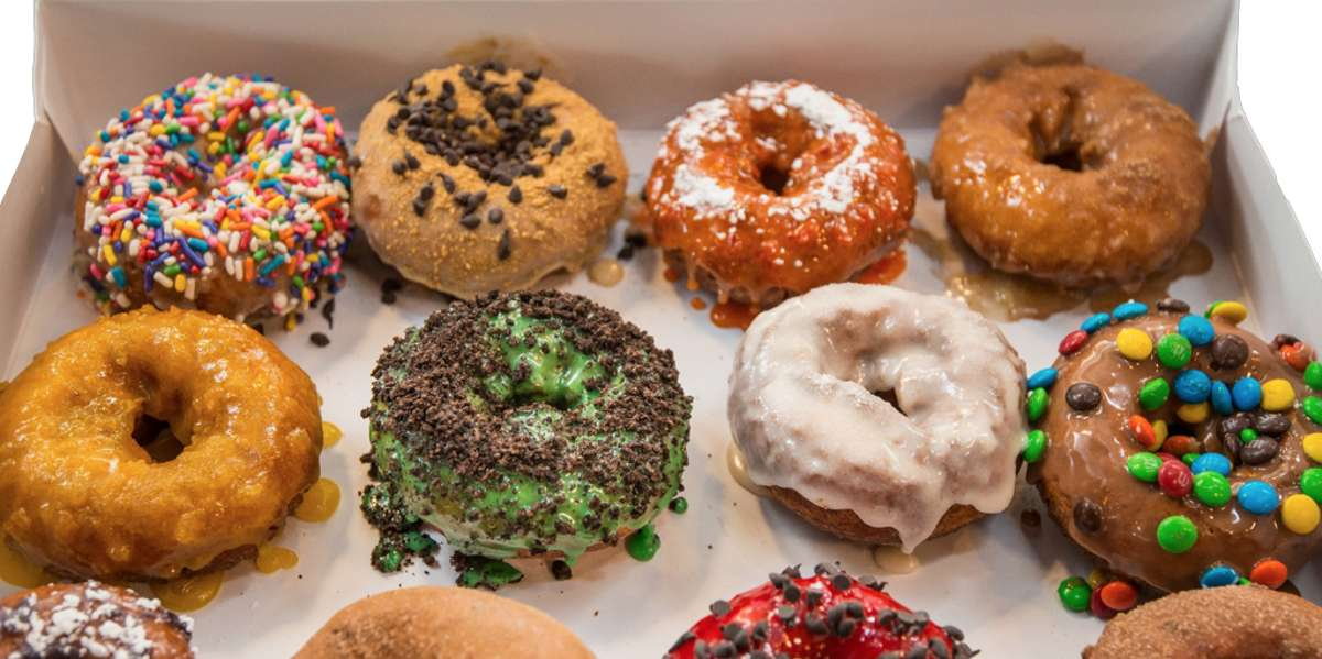 We encourage individuality and believe your donuts should be just as unique as you. Choose from our amazing varieties of donuts, or let your inner donut genius run wild with our design-your-own option. Remember, there's no wrong way to make your delicious! - Fractured Prune Doughnuts