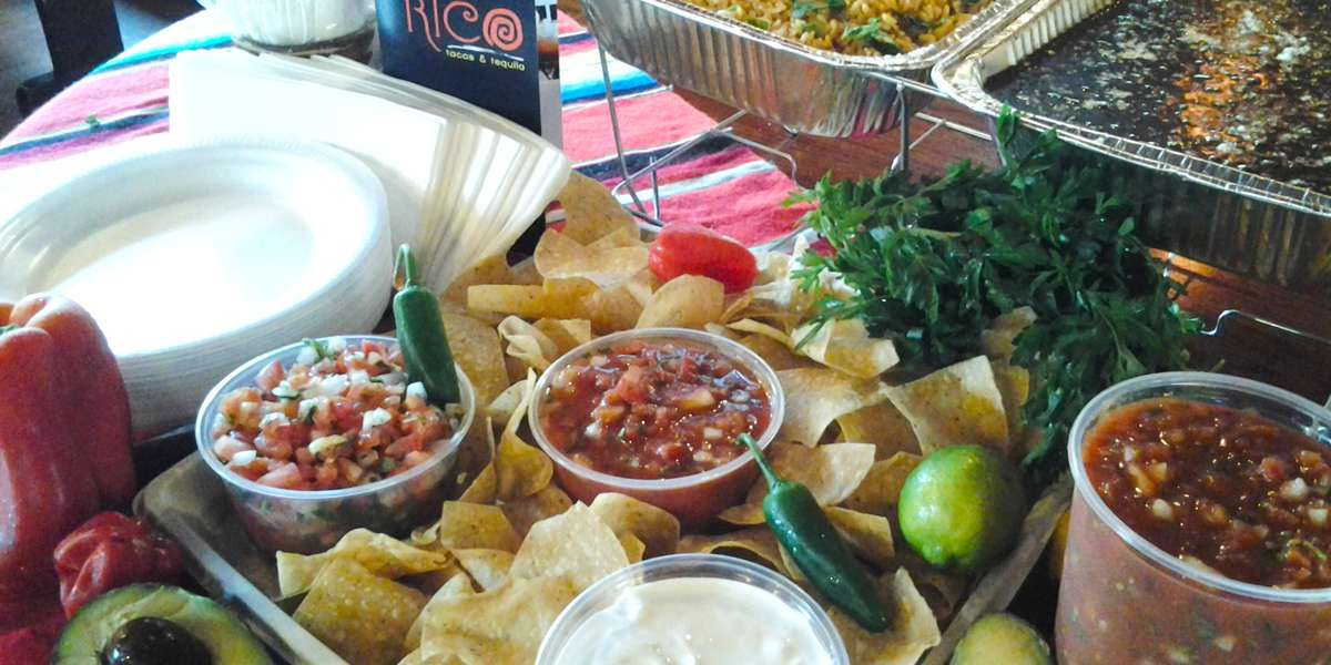 Serving great-tasting Mexican food since 1987! We do not use lard in any of our food preparation, which allows us to offer a large number of vegetarian options. We also boast the best fish tacos in town! Try ordering any one (or several) of our catering platters to make feeding your next meeting quicker than you can say taco! - Casa Rico