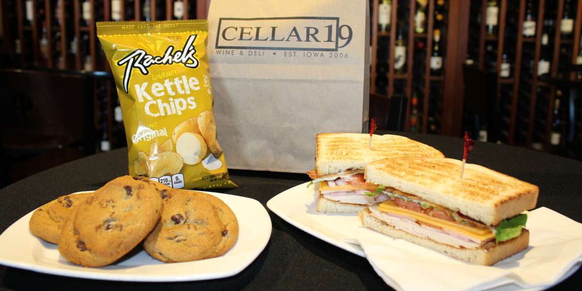 Is it five o'clock yet? A turkey & avocado sandwich, fruit, and cookie (or two) will help hold you over until happy hour. We use only the finest ingredients to make our delicious bites, sandwiches, and meals. A full & happy stomach will help make the time fly by! - Cellar 19