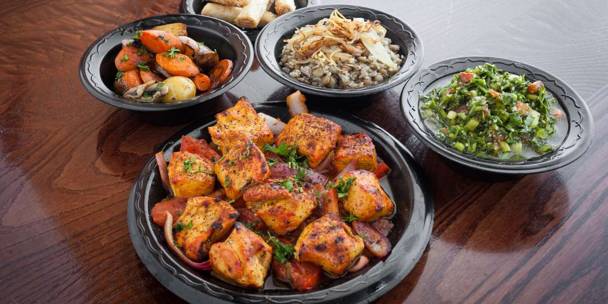 We are family-owned and operated, serving delicious Mediterranean foods to the greater Raleigh area. Our specialty is a unique blend of Greek and Lebanese cuisines designed to satisfy your craving for exotic flavors. Everything is made fresh and from scratch, using authentic recipes with nothing but the highest-quality ingredients! - Baba Ghannouj Mediterranean Bistro