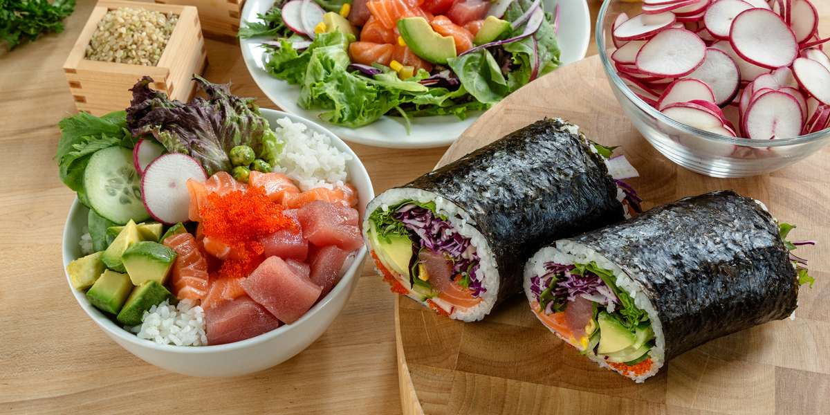 Serving traditional Japanese cuisine with an innovative twist is our specialty. Rolled into hearty handheld delights, a sushi burrito is a new way to enjoy your favorite sushi roll. We've cast a wide net to come up with funky flavors that will take any meal to the next level. - Yoki Express Restaurant