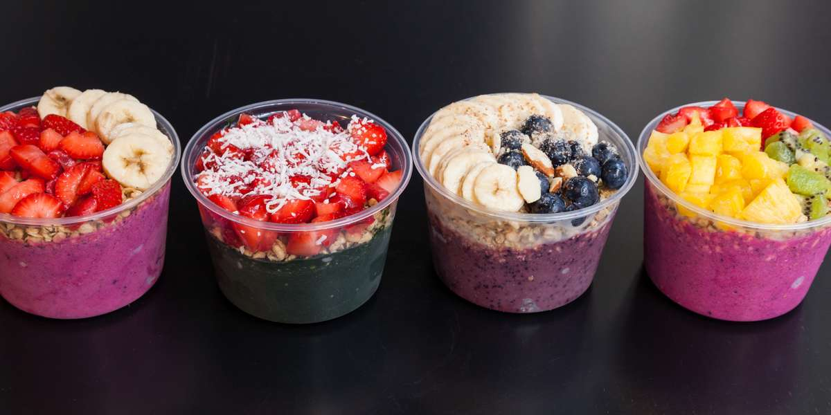We serve you amazing food first and foremost. Our bowls consist of blended frozen acai or pitaya mixed with other fresh fruits and vegetables, topped with granola and fresh fruit to create a delicious meal - perfect for breakfast, lunch, dinner, or a snack to get you through your busy days. - Verve Bowls