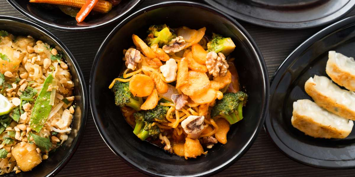 Inspired by the noodle houses found throughout Asia, our menu features stir-fry dishes and other classics. Our recipes were developed by renowned Asian chef, John D. Castro, made with a minimal amount of 100% grape seed oil and no MSG. All of our entrees are cooked to order so we can accommodate your special requests. - Yang Kee Noodle