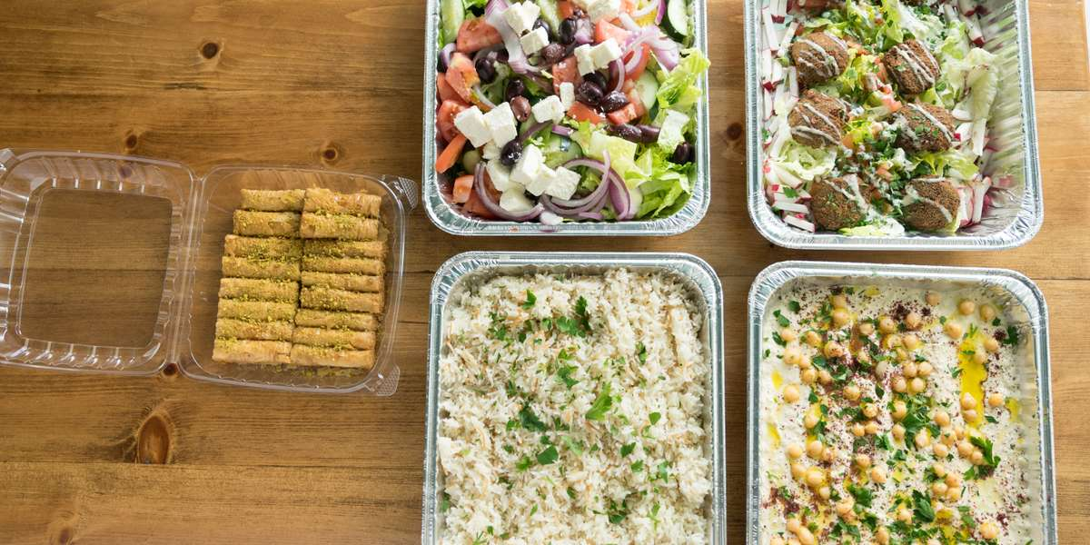In Mediterranean Countries, friends and family meet to enjoy light and delectable Greek and Lebanese cuisine. Using olive oil, fresh herbs, and enchanting spices, we deliver unique flavors and colorful dishes that will satisfy your craving for an exotic and authentic meal. We won the TripAdvisor Certificate of Excellence in 2016 and we'd love to cater your next meeting! - Mazza Mediterranean Cuisine