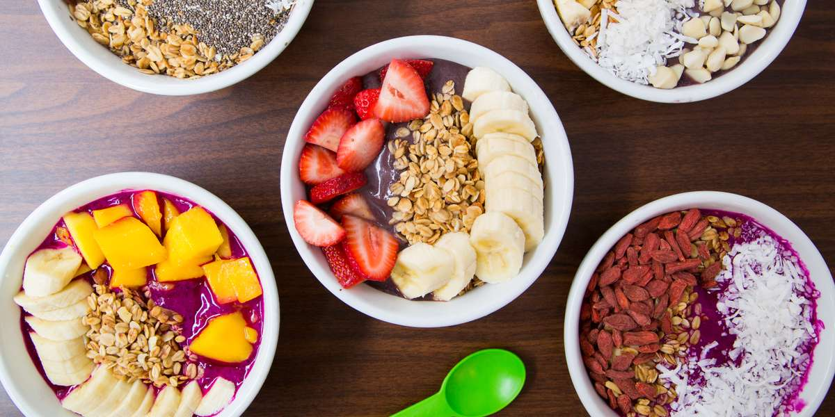 Whether your group needs a good start to the day, brainpower, or an excuse to get together, our yummy bowls are the answer. Our mission is to provide a unique culinary experience full of personal touches to every order! We strive to make the right choices for both the environment and the localities in which we operate. From our superfruit acai base to our goji berries and shredded coconut toppings, our bowls offer a healthy option for everyone. - Superfruit Republic