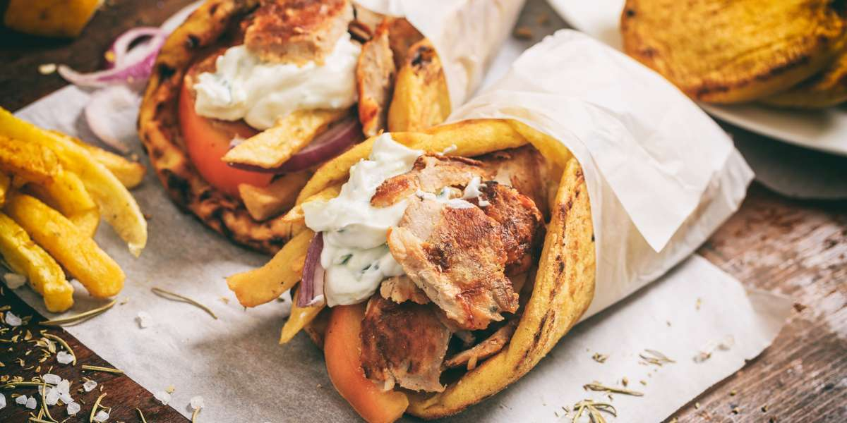 We're known for our gyros and, after a couple bites, you'll know why. Tender, flavorful spit-roasted chicken, lamb, and beef paired with an assortment of Mediterranean toppings and pita bread? It doesn't get much better than this! - No. 1 Gyro Shoppe
