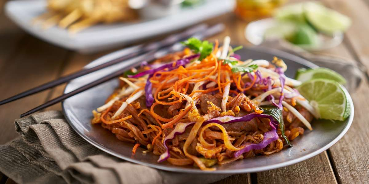 We specialize in Thai cuisine with an American twist. Go traditional or try something new— classic pad Thai or our spicy Hammered Noodles. Need a treat for the office? Try our deep-fried banana spring rolls or fusion raspberry cheesecake chimichangas for a sweet finish to your next event. - Thai Fusion